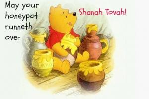 pooh and honey pot